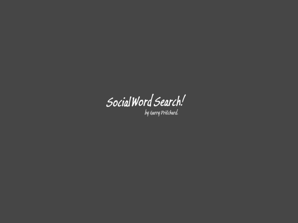 Social word search splash screen